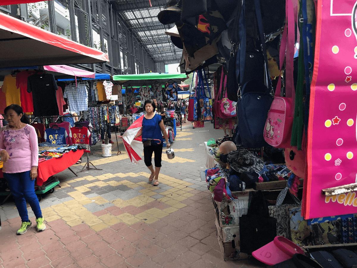 マレーシアの朝市の様子